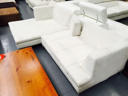Suede Fabric Modular Sofa - Ex Display Eumemmerring Casey Area Preview