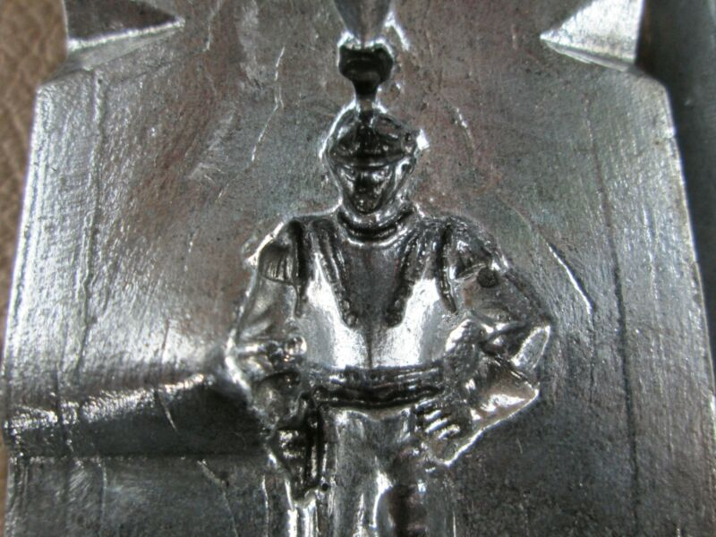 Vintage Lead Revolutionary/ Napoleonic Soldier Mold #122 w/3 ingots Hi-Tin casti