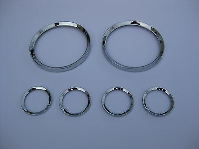 TR6 Smiths Instrument Chrome Bezel Set Late Not Original