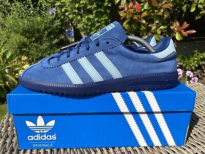 Adidas Island Series Bermuda Size 9 Blue Trainers 80s Football Casual Bnib