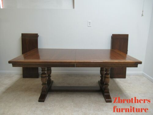 Ethan Allen Royal Charter Oak Jacobean Banquet Conference Dining Room Table B