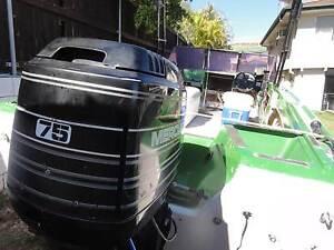 Boat motor & trailer all registered & in good running order Logan Reserve Logan Area Preview
