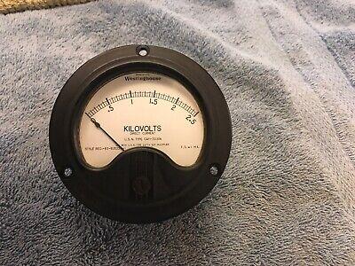 Vintage Radio Panel Meter 0-2.5 Kv Dc Westinghouse Me401