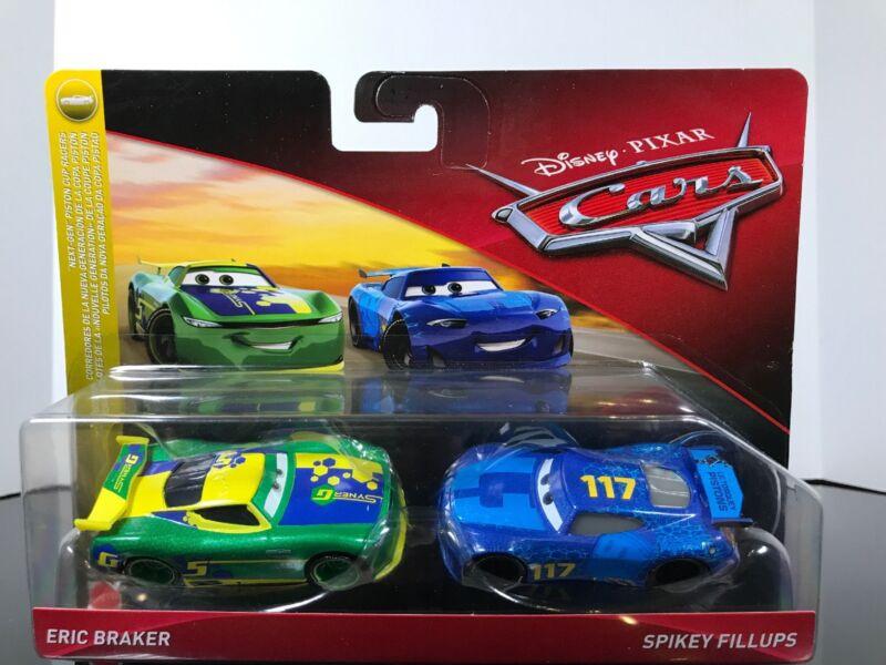 DISNEY PIXAR CARS 2 PACK SPIKEY FILLUPS /& CHASE RACELOTT NEXT-GEN PISTON SERIES