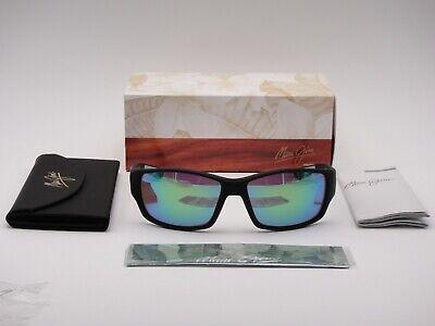 MAUI JIM POLARIZED LOCAL KINE SUNGLASSES GM810-27M BLACK/GREEN MIRROR GLASS (Maui Jim Green Sunglasses)
