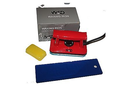 (Ski Snowboard Wax Iron red + snowboard long blue scraper 10
