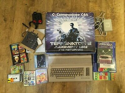Rare Vintage Commodore 64c computer Terminator 2 edition 1991 bundle
