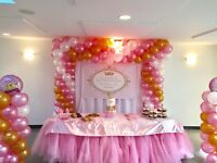 Full event planning, balloon decor and rentals