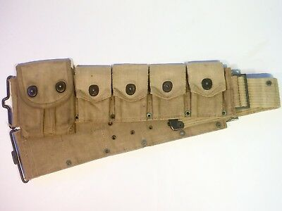 Original WWI US Ammo Belt w/ 45 Cal. Ammo Pouch HQ Marked