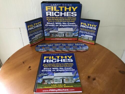 COMPLETE FILTHY RICHES REAL ESTATE COURSE BY LARRY GOINS - MANUAL, 9 CD