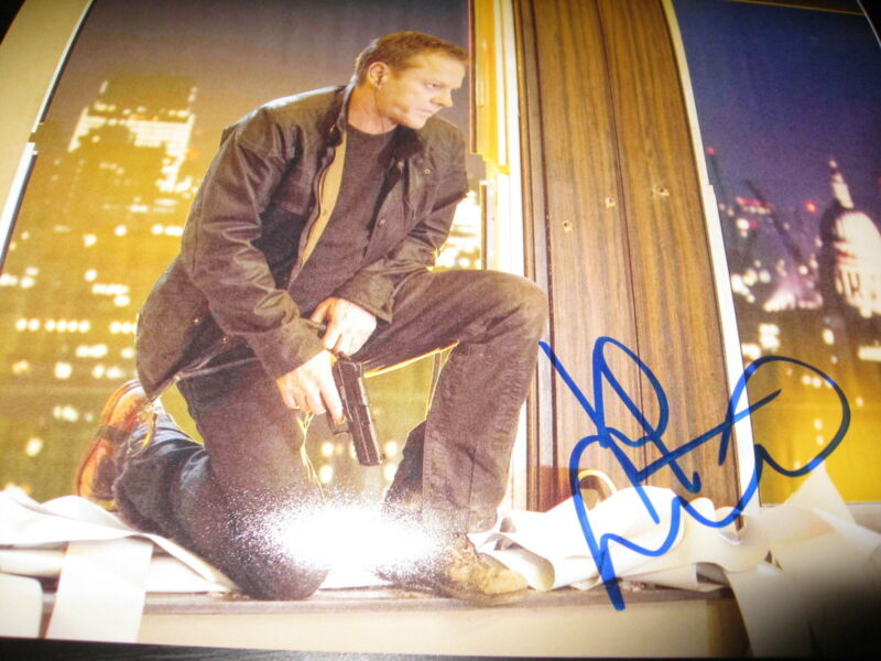 KIEFER SUTHERLAND SIGNED AUTOGRAPH 8x10 PHOTO 24 PROMO LIVE ANOTHER DAY COA P