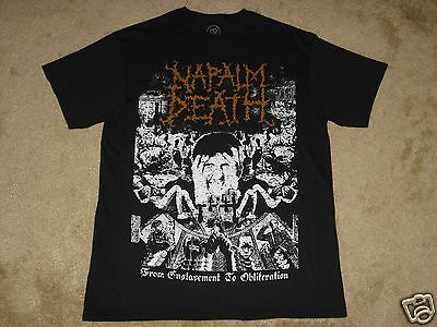 Napalm Death From Enslavement to Obliteration S, M, L, XL, 2XL Black T-Shirt