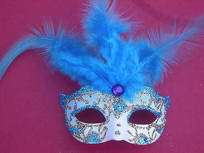 Novelr Fridge Magnet Feathered Italian Mask Blue (brand-new)