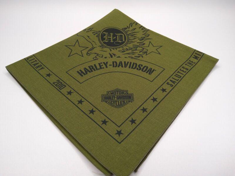 Harley Davidson Salutes The Military 2010 Bandana Handkerchief