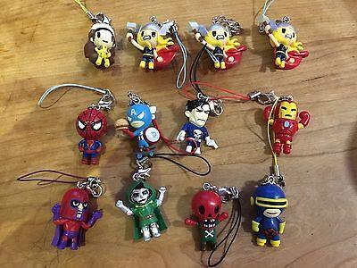 Tokidoki X Marvel Key Chain Lot Of 12 Thor Spider-Man Iron Man X-Men Punisher