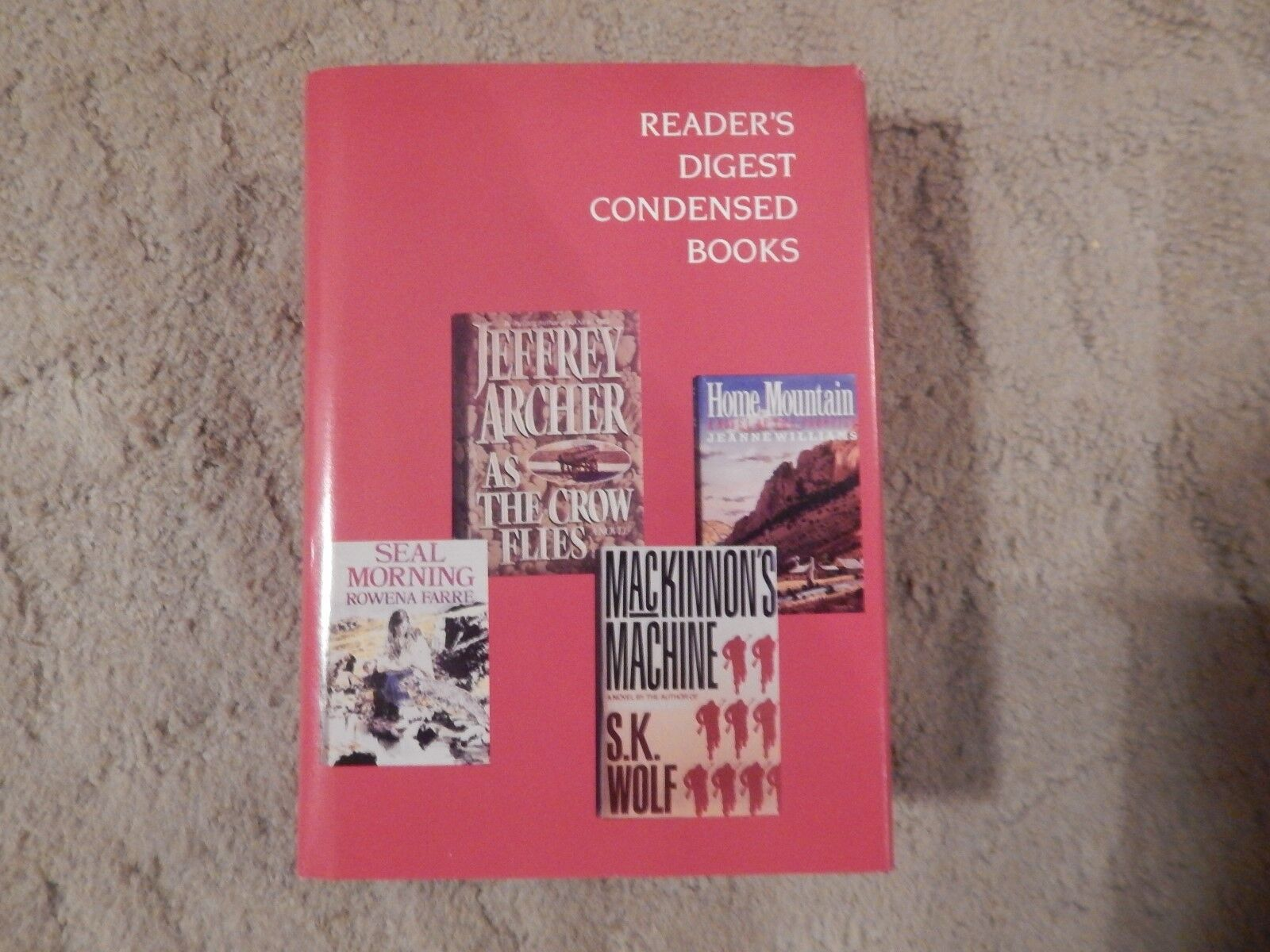 READER S DIGEST CONDENSED BOOKS - VOLUME 4 1991 HARDCOVER  - $0.05