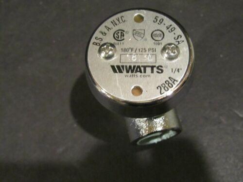 """6 - Watts 288A  Anti Siphon Vacuum Breaker 1/4"""""""