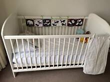 Child's Cot, Mattress and Cot Top  Changer Uralla Uralla Area Preview