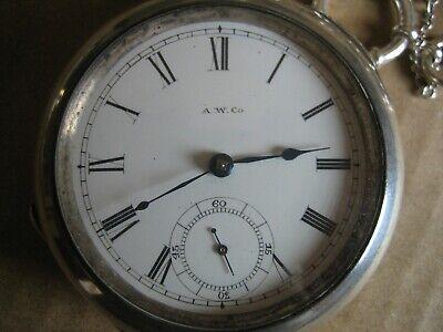 WALTHAM (Broadway) USA ( 1885) Mechanical S/Silver Pocket Watch (RARE)