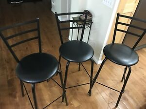 3 like new Amisco bar stools. Only selling due to refurbishment