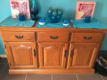 WOOD SIDE TABLE BUFFET CABINET Redbank Plains Ipswich City Preview