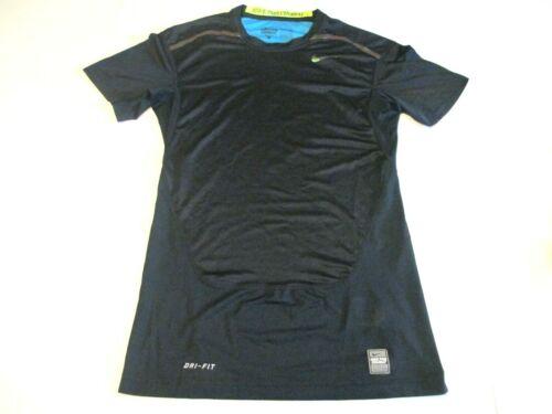 Nike Pro Combat Compression Dri Fit Youth Boys Medium Black Short Sleeve Shirt