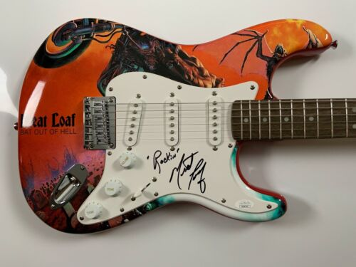 Meat Loaf JSA Signed Autograph Stratocaster Squier Guitar Bat Out Of Hell