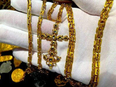 1715 FLEET QUEENS JEWELS GOLD DIAMOND CROSS PIRATE GOLD COINS SHIPWRECK TREASURE