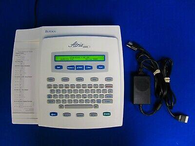 Burdick Atria 3000 92700 Ecg Ekg Machine W Ac Power Adapter
