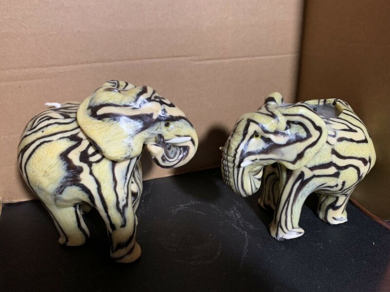 Elephants Swazi Candles  Handmade  - From Swaziland Africa