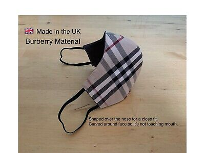 Washable face mask 100% Cotton Prints/Burberry New, Wrapped Made in the UK 🇬🇧