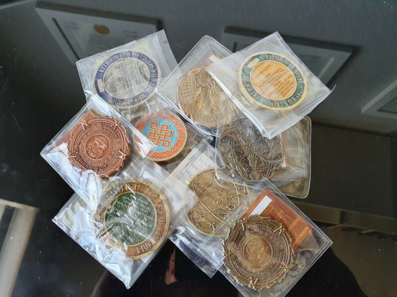GRAB BAG (3) Trackable Geocoins for Geocaching Unactivated - FREE SHIPPING!!