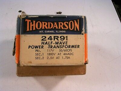Thordarson Power Transformer 24r91 New Old Stock