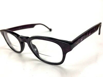 L.A. Eyeworks Masonette 908 Rx Eyeglasses Naughty Pearl Grape Italy RARE , used for sale  Grass Valley