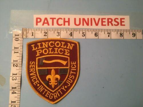 LINCOLN RHODE ISLAND POLICE SHOULDER PATCH J071