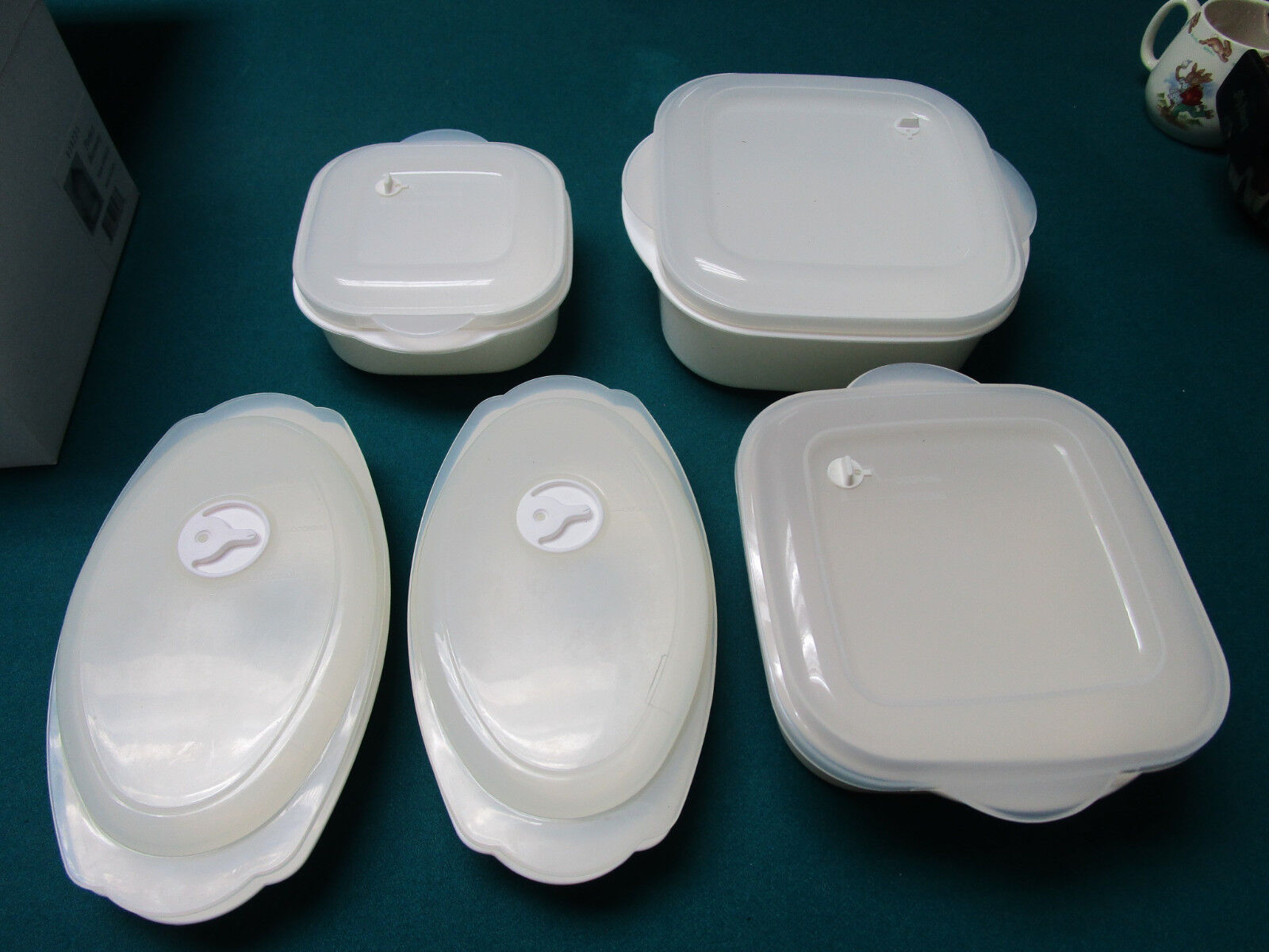 Microwave Cooking And Food Containers Lot Of 5 Pcs