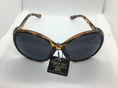 Women Rounded Brown Sunglasses Eyewear Georgio Caponi Fashion Collection (Georgio Caponi Sunglasses)