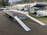 ⭐️ Eduard Auto Transporter 3500kg 606x200x30cm 3-Achser Rampen 63 Brandenburg - Schöneiche bei Berlin Vorschau