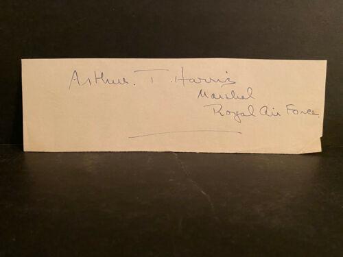 RARE Signature Arthur T Harris Signed Cut AUTOGRAPH Royal Air Force AUTO