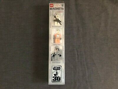 LEGO Star Wars Magnet Set Stormtrooper, Y-Wing Pilot, AT-ST Driver