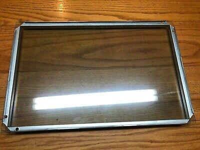 2x Frigidaire Kenmore Range Oven Door Glass 316237100 316117501 12 7/8 x 20 1/8