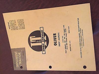 It Oliver Shop Tractor Shop Manual Super 99 770 880 995 990 950