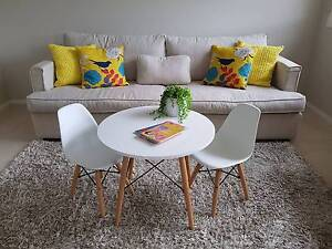 Almost New White Kids Table & Two Chairs Pitt Town Hawkesbury Area Preview