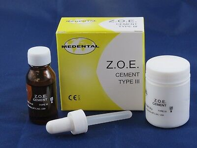 Dental Cement Zoe Type Iii Intermediate Restoration Kit Jumbo Pack Medental