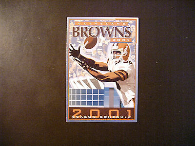 Cleveland Browns 2001 Nfl Pocket Schedule   Browns Com