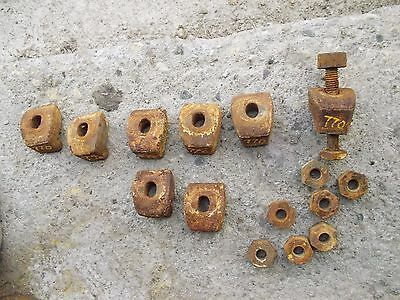 8 Oliver 770 Tractor Rear Rim T Cast Center Hub Wedge Wheel Buckle Nuts Bolt