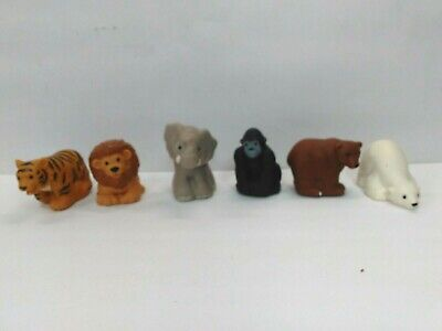 Fisher-Price Little People Lot of 6 Zoo Talkers Animals All Tested and Working