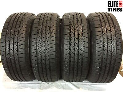 Set of 4 Goodyear Wrangler SR-A Blackwall P265/65R18 265 65 18 Tire -Driven Once