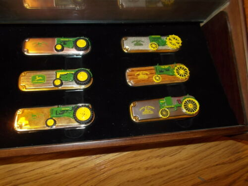 Franklin mint John Deere Knives Set Of 6 with case 1948,1934,1919,1958,1949,1923