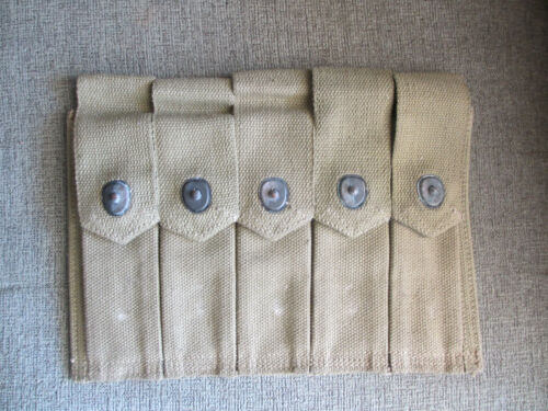 ORIGINAL WWII AMMO POUCH WILD BILL GUARNERE AUTOGRAPH 101ST BAND OF BROTHERS VET